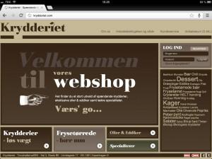 Webshop for Krydderiet