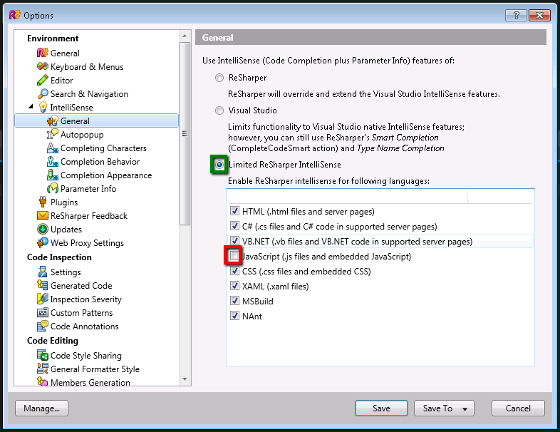 Visual Studio 2012 working Intellisense with custom Resharper 7 Intellisense settings