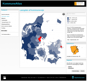Længde af kommuneveje - København og Aarhus