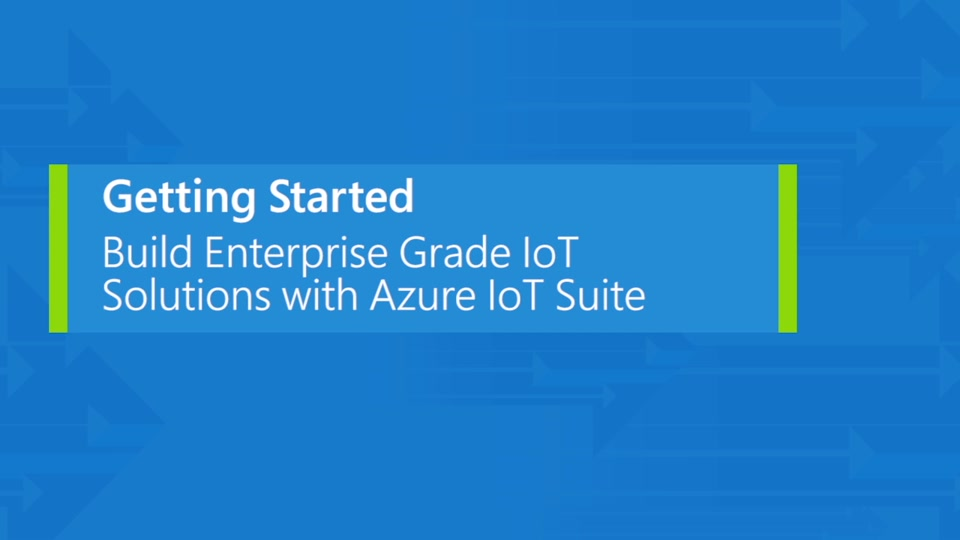 Introduction to IoT Suite and IoT Hub for developers